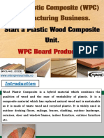 Wood Plastic Composite (WPC) Manufacturing Business