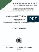 Strecker, Georg. Das Judenchristentum in Den Pseudoklementinen, Berlin 1958