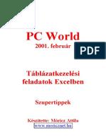 Móricz Attila - Táblázatkezelési Feladatok EXCEL-ben