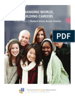Changing World, Building Careers - Its My Future 2 - Student Voices Across Ontario (Executive Summary)