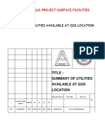 SUMMARY OF UTILITIES AVAILABLE AT  GGS Rev 1.docx