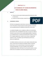 Determinacion de Humedad, Ph y Acidez de Carnes