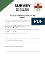 vet survey