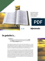 7 en 33 jaren - Bijbelstudie