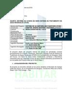 Informe de Avance de Obra Sistema de Tratamiento de Aguas Residuales