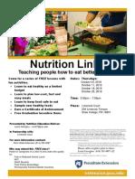 Nutrition Links Flyer - Limerock Oct 2018