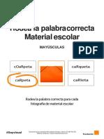 Mayúsculas - Rodea La Palabra Correcta - Material Escolar-converted