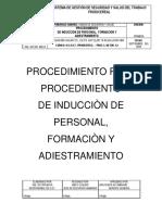 Procedimiento de Seguridad y Salud de Inducciones