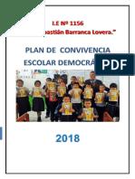 Plan de Convivencia Escolar  de la Institucion Educativa I.E. N° 1156 - JSBL -  2018  Ccesa007