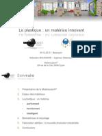 Presentation APFC Plastique Un Materiau Innovant