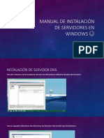 Manual de instalación de servidores en Windows ☺
