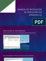 Manual de instalación de servidores en Windows ☺