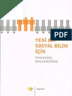 Immanuel Wallerstein - Yeni Bir Sosyal Bilim İçin #a.