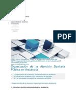 Organización de La Atención Sanitaria en Andalucía
