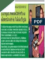 04-10-18 Entregan reconocimientos a elementos de la Policía Regia