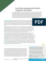 neuroimagenes en preterminos y rendimiento escolar