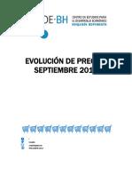 Precios Septiembre 2018 Informe CEDEBH