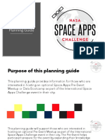 Space Apps 2018 PreEvent Meetup Planning Guide 2018