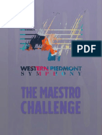 Western Piedmont Symphony 2018-2019 Season