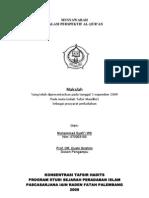 Tafsir Maudhu'i. Musyawarah dalam Perspektif al-Qur'an. Oleh Syafi'i WS al-Lamunjani (Makalah 2009)