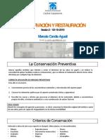 2 Sesión Conservación y Restauración PDF