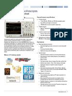 MDO4000 Mixed Domain Oscilloscope Datasheet