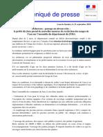 Le communiqué de presse de la préfecture