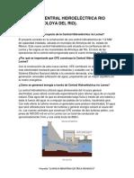 PROYECTO CENTRAL HIDROELÉCTRICA RÍO LERMA (ALMOLOYA DEL RÍO).