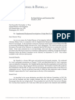 Christine Blasey Ford's attorney  Letter to FBI Director Wray  October 4, 2018