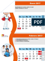 Calendario de Salud 2017 - Semana Epidemiologica
