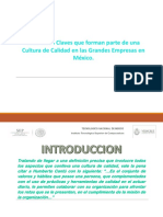 Cultura de Calidad en Mexico