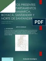 Yacimientos Presentes en Los Departamentos de Cundinamarca