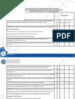 Lista de Cotejo Del Plan de Trabajo Del Supervisor