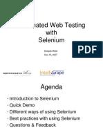 automated web testing with selenium
