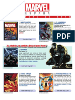 Avance de Novedades 11 2018 Marvel