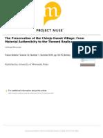 The Preservation of the Chonju Hanok Vil
