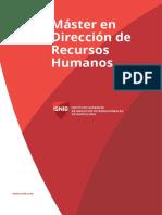 ISNIB_BS_Guía de Estudios Máster en Dirección de Recursos Humanos