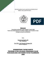 Aktifitas Penelitian oleh M. Syafi'i WS al-Lamunjani (Makalah 2008)