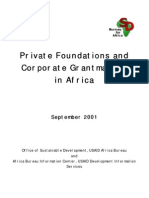 Private Foundations and Corporate Grantmakers in Afrika