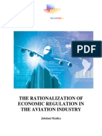 The Rationalization of the Economic Regulation of the Aviation Industry