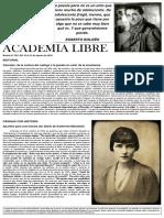 Academia Libre. Boletín N° 262