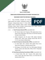 Putusan MK Pengujian UU No 10 Tahun 2008 Tentang Pemilu Legislatif Pasal 316 huruf d