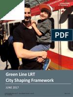Green Line City Shaping Framework