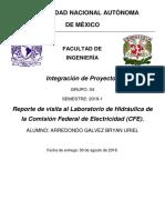 REPORTE LABORATORIO DE HIDRÁULICA CFE