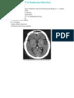 CT of Subacute Infarction