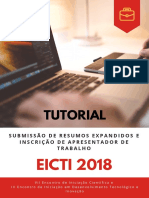 Tutorial de Submissão de Resumos Expandidos EICTI 2018