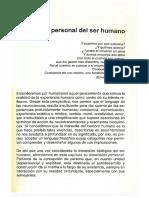 Ser Humano y Realidad Personal