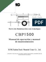 Manual Torre de iluminación con remolque xcMG