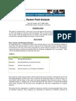 Fluid ruminant analysis