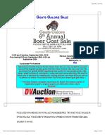Goats Galore Sale 2018-2